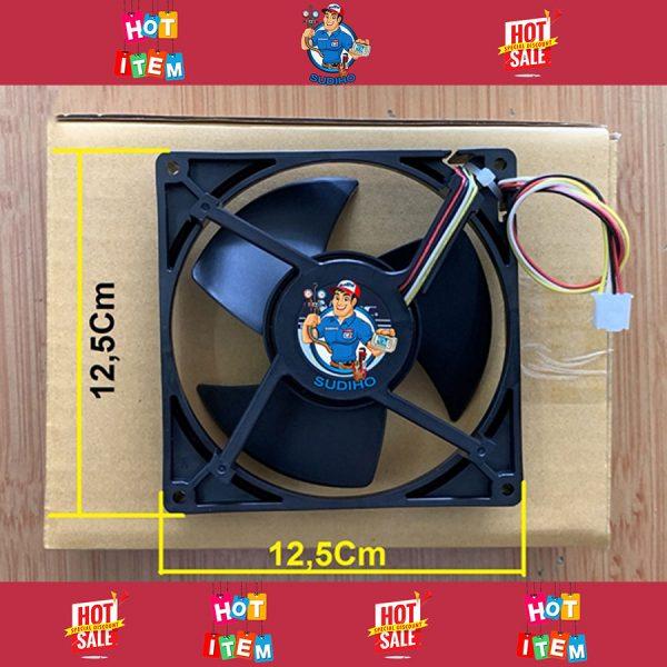 Quạt Tủ Lạnh 4 Dây 12.5 Cm Đỏ Đen Trắng Vàng
