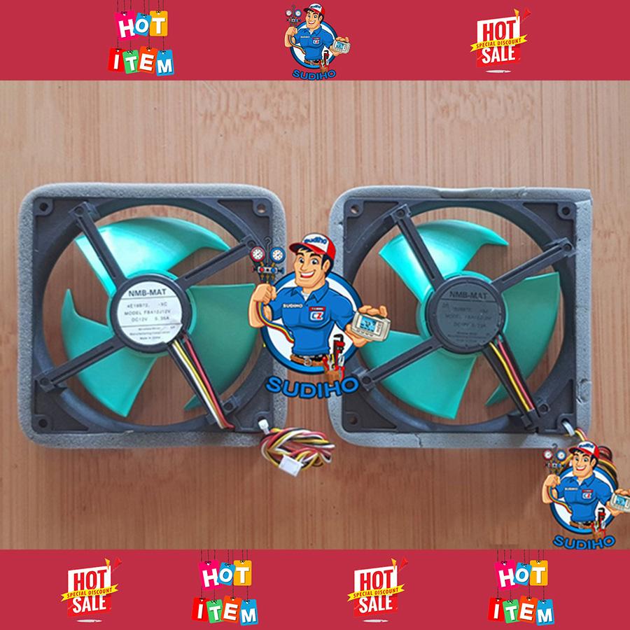 Quạt Tủ Lạnh 12VDC 14VDC 15VDC Cánh Xanh 3 Dây – 4 Dây