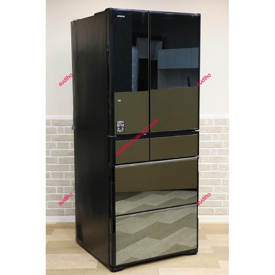 Tủ Lạnh Hitachi Nhật R-WX62J-X-615L-2018