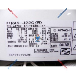 Điều Hòa Hitachi Nội Địa Nhật RAS-J22C Inveter 2 Chiều
