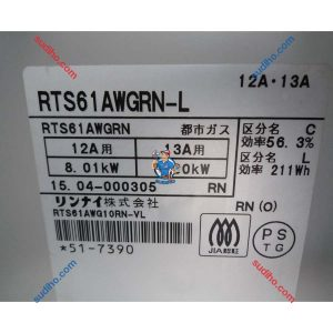 Bếp Ga Nội ĐỊa Nhật Rinnai RTS61AWGRN-L