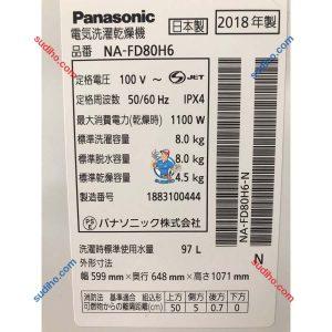 Máy Giặt Nội Địa Nhật Panasonic NA-FD80H6